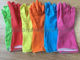 45g хлопка волокнистую водонепроницаемые перчатки из латекса сертификат CE домашних хозяйств