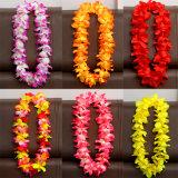 I compleanni hawaiani fioriti variopinti di eventi del costume degli adulti dei bambini dei capretti celebrano la corona Hawai della decorazione del vestito dal pannello esterno della paglia dell'erba di Hula del partito