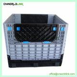 Starker Körper-beweglicher stapelbarer zusammenklappbarer großer Ladeplatten-Karren-Plastikkasten