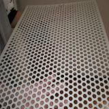 Hoja perforada galvanizada orificio redondo para la decoración