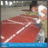 Gebouwde Rode Bule/Beige/White kleurt de Kunstmatige Plakken van de Stenen van het Kwarts van Fonkelingen