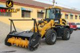 Máquina de Mulcher carregador da roda de 2 toneladas para cultivar