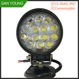 Alta potencia 42W luz LED de trabajo para el tractor de conducción de faros de luz y de trabajo