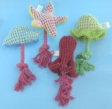 柔らかいプラシ天の海洋動物ペットおもちゃ