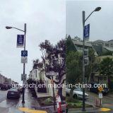 기치 팔 시스템 (BT87)를 광고하는 금속 거리 포스트