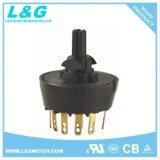 Arrêt du moteur du ventilateur/L/M/H 4 Sélecteur de position de l'interrupteur rotatif