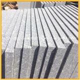 Granito grigio imperiale poco costoso naturale fiammeggiato per la pavimentazione, scale