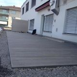 방수 마루 나무 및 플라스틱 합성 표면은 WPC Decking를 모래로 덮었다