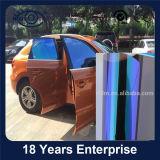 파란 카멜레온 차 창 필름에 UV 거절된 자주색