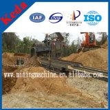 Instalação de lavagem de minério de areia móvel Fábrica de processamento de ouro móvel