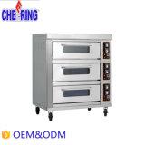 Incoraggiando due strati sei dei cassetti di cottura del tostapane della pizza della cucina del forno di gas commerciale