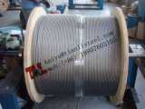 1000m 당 En12385-4 스테인리스 철사 밧줄 304 A2 1.4301 7X7 6mm 144kg