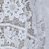 Design Embroidery Lace Textile plans for Lady's Dress