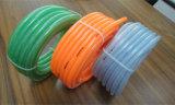 O PVC transparente Limpar o tubo de borracha reforçado trançado de fibra