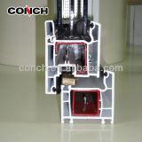 Profil de PVC Conch 60 pour fenêtre de battement