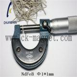 Ck 252 NdFeB 자석 급료 Φ 1*1mm