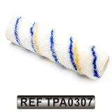 Tecido de poliéster capa em rolo de tinta acrílica com faixa de linha preta (TPA0307)