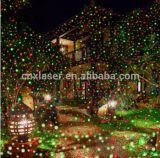Luz nova do feriado com iluminação de controle remoto do fogo-de-artifício do laser para a parede e a árvore