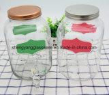 Bottiglia di vetro di Transparents di buona qualità/vaso di vetro con il colpetto per l'applicazione della casa di cerimonia nuziale