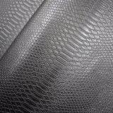 Lo Synthetic animale nero della pelle di serpente imita il cuoio del sacchetto del Faux dell'unità di elaborazione