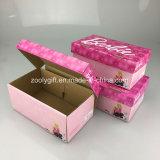 Modificar el rectángulo de empaquetado del papel acanalado de los zapatos del regalo para requisitos particulares plegable de la caja de embalaje