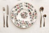 De Ceramische Schijf van het Lapje vlees van het Vaatwerk van China van het Been van de Schotel van de Plaat van de bloem
