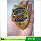 Regalos promocionales Custom Metal Shield Badge with Pin