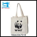 Sac de coton recyclé naturel Shopping / Couleur blanc ordinaire de l'écologie Sac en coton naturel
