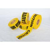 工場価格は黄色いカラーPEの警告テープ注意テープをカスタマイズした