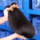 平らな先端の毛の拡張前に担保付きのケラチンの接着剤の融合の毛の拡張インドのRemyの多彩な人間の毛髪はカラー1b#を継ぎ合わせる