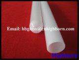 Funda inferior redonda opaca del vidrio de cuarzo de la silicona de la pureza elevada