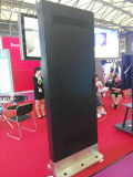 Suelo del alto brillo 65inch que coloca el LCD al aire libre que hace publicidad de Kiosk