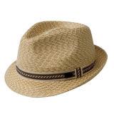 Moda Hombre verano personalizados de sombrero de paja de la tapa de papel