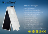 Lámparas de calle solares todas juntas con el Ce, RoHS, IP65, certificaciones de la ISO