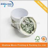 Venta al por mayor de empaquetado del rectángulo de la insignia del tubo del cilindro del té de papel redondo de encargo de la flor (QYZ172)