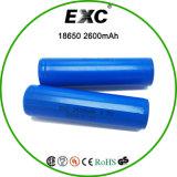 Lithium-Batterie der nachladbaren Batterie-18650 2600mAh