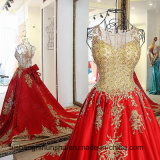 贅沢なイブニング・ドレスのAラインのレースのウェディングドレス