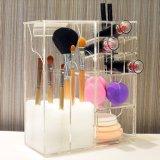 Sostenedor de cepillo de múltiples funciones de acrílico superior del organizador del maquillaje