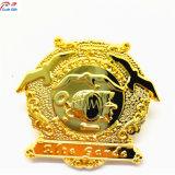 De metal dorado personalizado insignia de solapa para el recuerdo