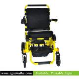 リチウム電池が付いている電動車椅子を折っているアルミニウムライト級選手