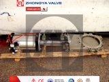 Válvula da faca pneumática com atuador pneumático