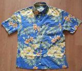 Chemises hawaïennes à manches courtes 100% peignées en coton