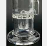 Un verre de 6,3 pouces de fumer le tabac les Tuyaux de filtre du tuyau de recyclage