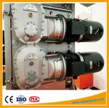 Motor eléctrico de la C.C. con la caja de engranajes para el elevador del alzamiento de la construcción del pasajero