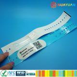 HUAYUANのイベントの切符system13.56MHz MIFARE標準的な1K印刷できる使い捨て可能なRFIDのペーパーリスト・ストラップ