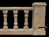 Balustre en granit de pierre naturelle avec barrière de rail
