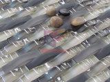 焦茶のカーブの水晶モザイク・タイル(CFG14)