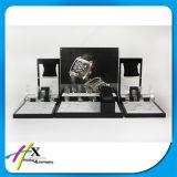 De elegante Glanzende Zwarte Houten TegenVertoning van de Opslag van de Vertoning van het Horloge