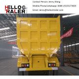 3 차축 25cbm 전송 시멘트 모래를 위한 55 톤 덤프 트레일러