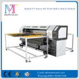 UV híbrido impresora imprimir en soportes rígidos y el rulo con una impresora